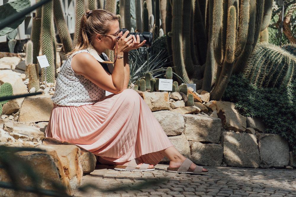 Fotografin Mirjam Kilter im Tropenhaus