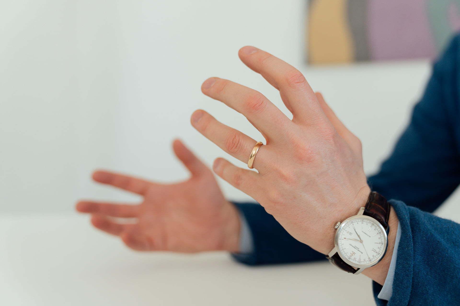 Detailbild von Händen für ein Fotoshooting